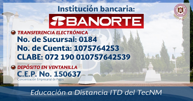 CUENTA BANCARIA BANORTE PARA DEPÓSITO